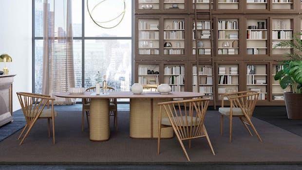 Contemporary living room: Colonial table - Photo: Morelato