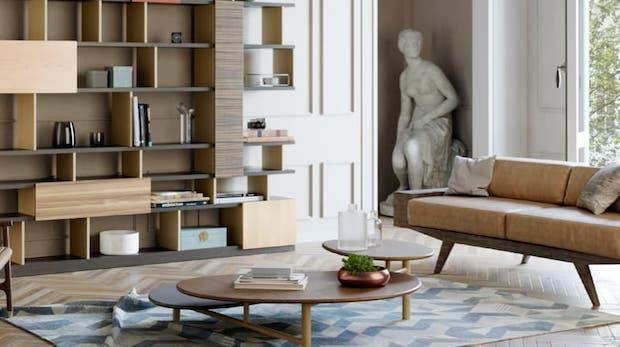 Contemporary settings: Layer coffee table - Photo: Morelato