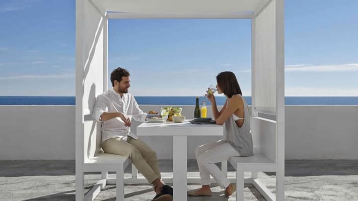 Gazebo su terrazzo Contemporary Wood Proverbio Outdoor Design