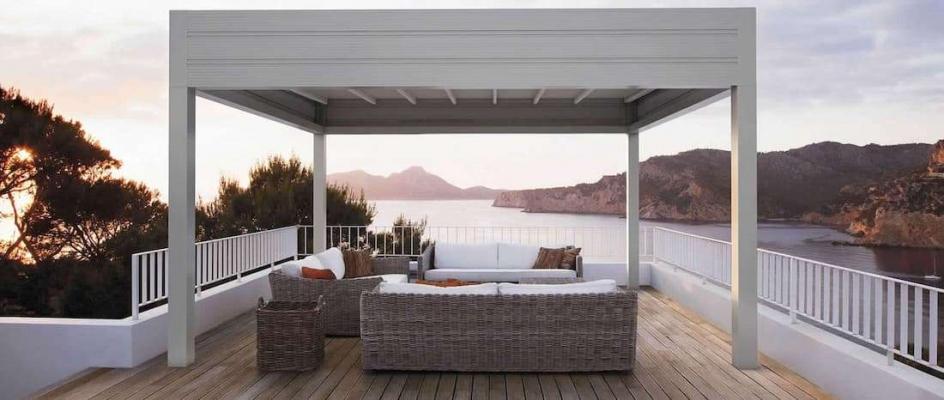 Gazebo terrazzo Contemporary Metal PVC - Proverbio