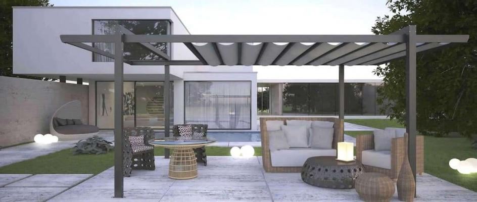 Gazebo Contemporary Metal PVC Proverbio Outdoor Design