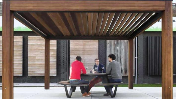 Gazebo Contemporary Wood - Proverbio