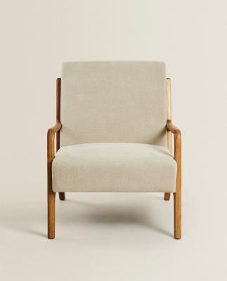 Poltrona in legno e lino - Foto: Zara Home