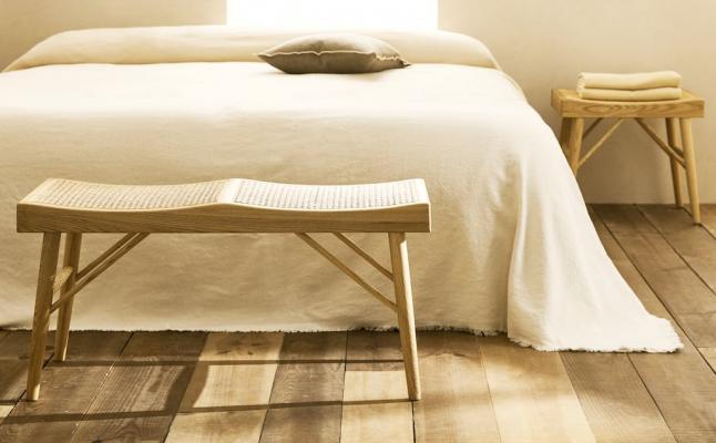 Panchina per camera da letto in stile naturale - Foto: Zara Home
