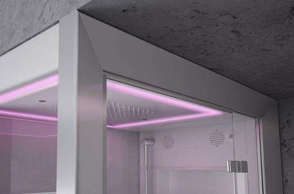 Cromoterapia, cabina doccia multifunzione Frame - Foto: Jacuzzi