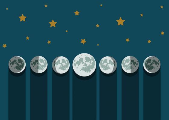 Rappresentazione fasi della luna