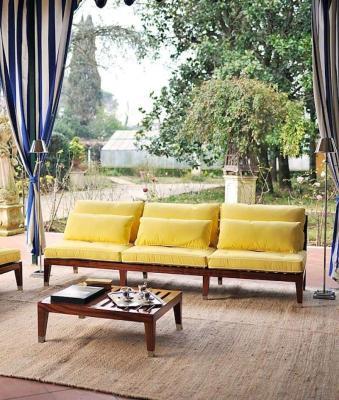 Arredo esterno divano mogano Unopiù