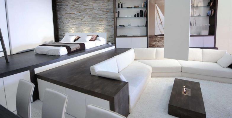 Loft zona notte e living - GM Architecture