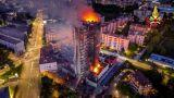 Incendio grattacielo, facciata in alucobond