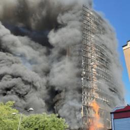 Incendio pannelli di rivestimento Torre dei Moro Milano
