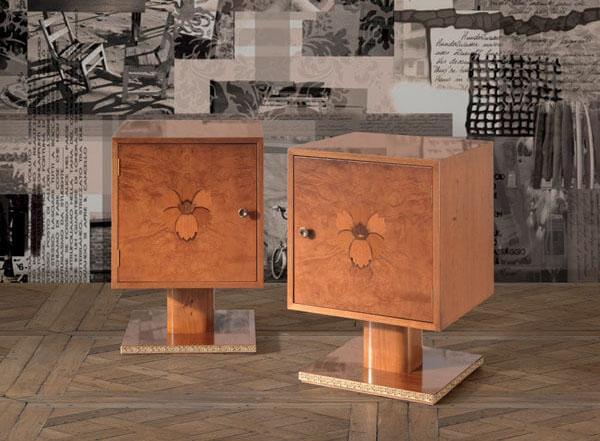 Art Deco style bedside tables - Bertelè Mobili
