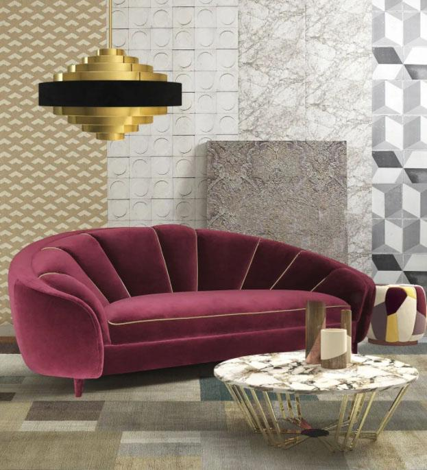 Art Deco sofa - Ruby - Moranti