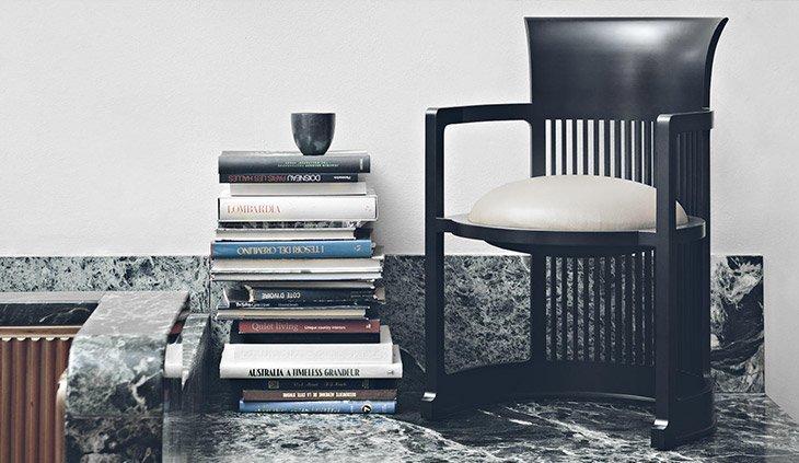 Art Deco chair - Barrel - Cassina