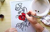 Fasi iniziali della colorazione. Foto by l'arte a modo mio
