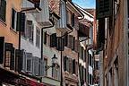 Quinta urbana formata dalle facciate di un centro storico