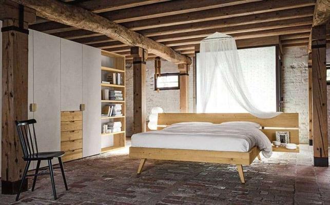 Camera da letto in legno Maestrale - Scandola