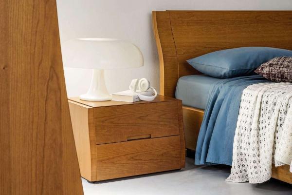 Gruppo letto legno ciliegio Clio Musa - Napol
