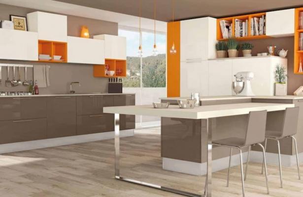 Oggetti arancioni in cucina, soluzioni Lube