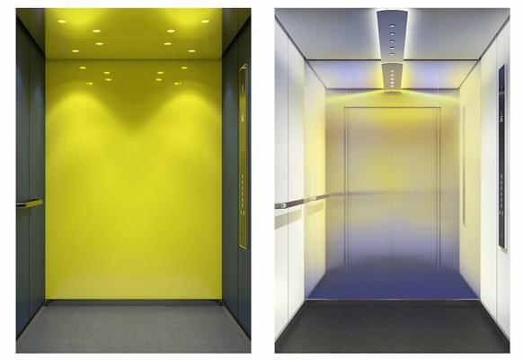 Interni ascensore DX Class di KONE, modello Creative Life