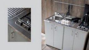 Mobili in metallo per cucina e bagno