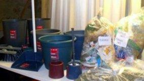 Articoli casalinghi da plastica riciclata