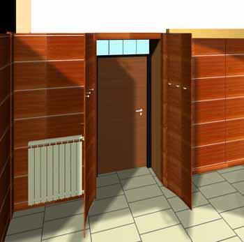 Porta trasformata in armadio - Armadio porta abiti per ingresso ...