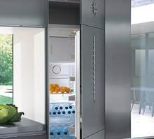Warendorf. Dual: particolare frigorifero con elem. decorativo.