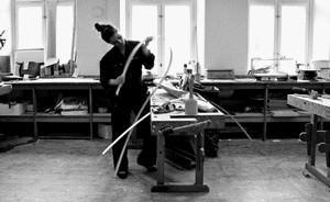 Nina Bruun nel suo laboratorio.
