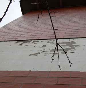 I distacchi dei rivestimenti di facciata: un esempio di distacco parziale del rivestimento
