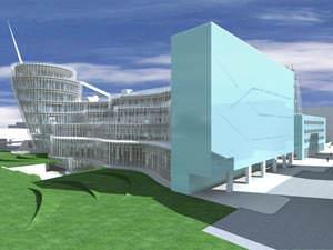 Centro Culturale a Torino ( Mario Bellini ) : Immagine tratta dal sito www.bellini.it)