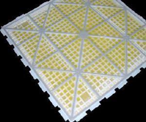 Pavimenti smontabili : la struttura di sostegno del pavimento Clip tile