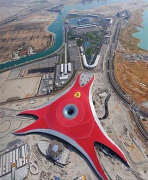 Ferrari World - Vista dall'alto ( imagesource: www.benoy.com )