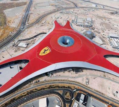Ferrari World - Vista dall'alto della copertura ( imagesource: www.benoy.com )
