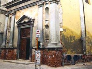 Umidità nelle murature: vista di un esterno