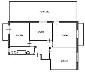Appartamenti con terrazzo: stato iniziale