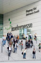Colonia_ Koelnmesse: entrata sud.