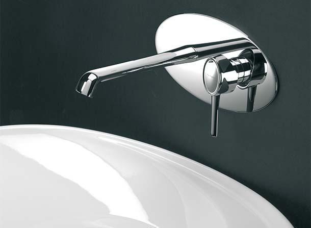 Delizia, rubinetteria lavabo a parete, di Fratelli Frattini