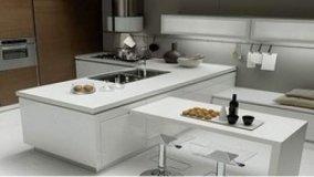 La cucina e il living