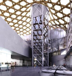 Interno del Centro Pompidou a Metz ( image from www.jdg-architectes.com )