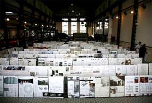 Vista dei pannelli di progetto dei partecipanti ( picture taken from the Jury report pdf. file )