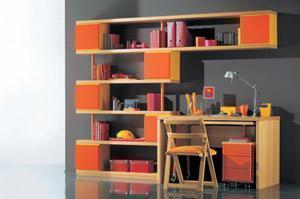 Stanza studio for Librerie piccole dimensioni