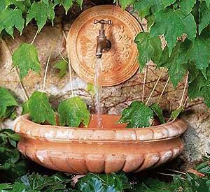 Coperture efficienti : una fontana ornamentale da terrazzo