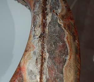 La scelta dei materiali in pietra sintetica : l'ossidazione della parte metallica