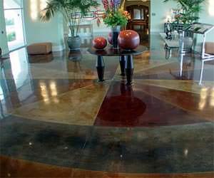 pavimento acidificato Acid Stain di STONE SYSTEM