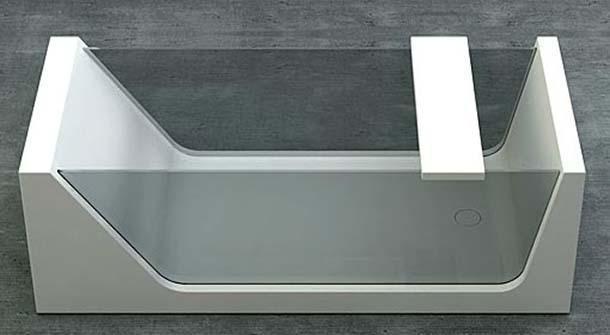 Il vetro: un materiale per la vasca da bagno