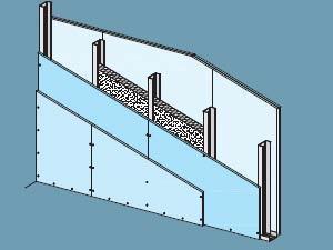 un classico sempre valido dei sistemi a secco sono le pareti ...