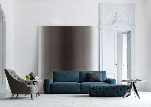 l'acquisto del divano - Ampio Divano Ad Angolo In Tessuto Grigio Bianco