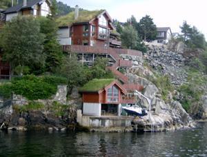 Case su fiordo di Bergen