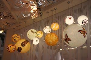 Mosaico artistico: Sicis,  lampade della collezione Atmosphere