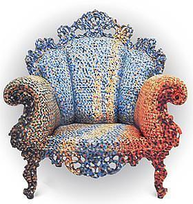 Arredi eclettici: sedia Proust di Mendini